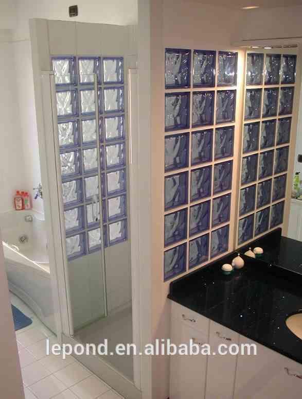 Colorido tijolo de vidro / vidro decorativo bloco para a parede de cortina…