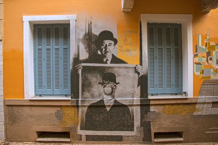 Magritte, 1966.Bill Brandt photography on the walls of Exarchia district. Methonis street, Athens.StreetArt photo of the day, by inExarchia.grhttp://www.inexarchia.gr/street-art/la-revolution-surrealiste
