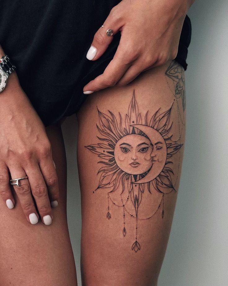 50 Useful and beautiful sun and moon tattoos
