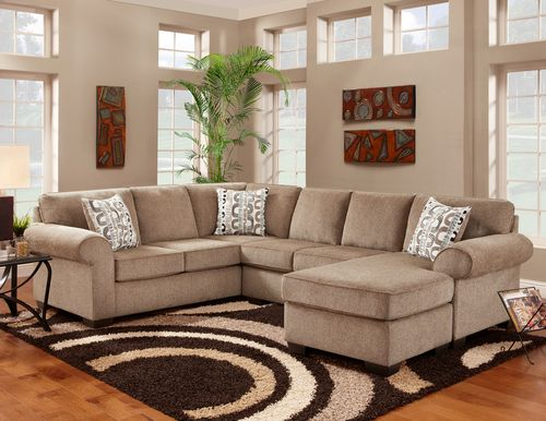 Clearance Affordable Jesse Cocoa Sectional Sofa Affordable Furniture Furniture Living Room Furniture