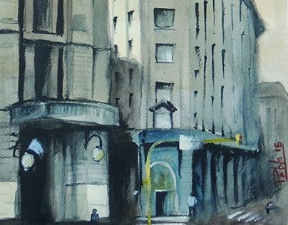"Check out new work on my @Behance portfolio: ""Watercolor - Buenos AIres"" http://on.be.net/1Ic7YvQ"