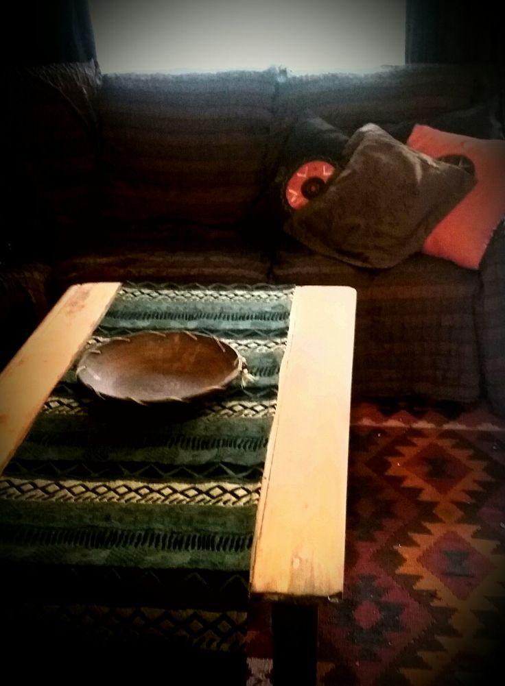 Handwoven table runner from Tshonga trading in Dullstroom