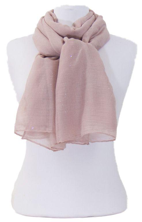 Foulard taupe rosé fines paillettes. Découvrez sur mesecharpes.com + de 150  foulards chic bbc5cd14751
