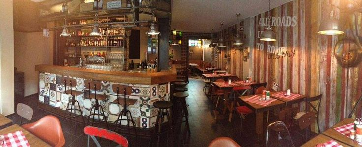Diy restaurant industrial design bar