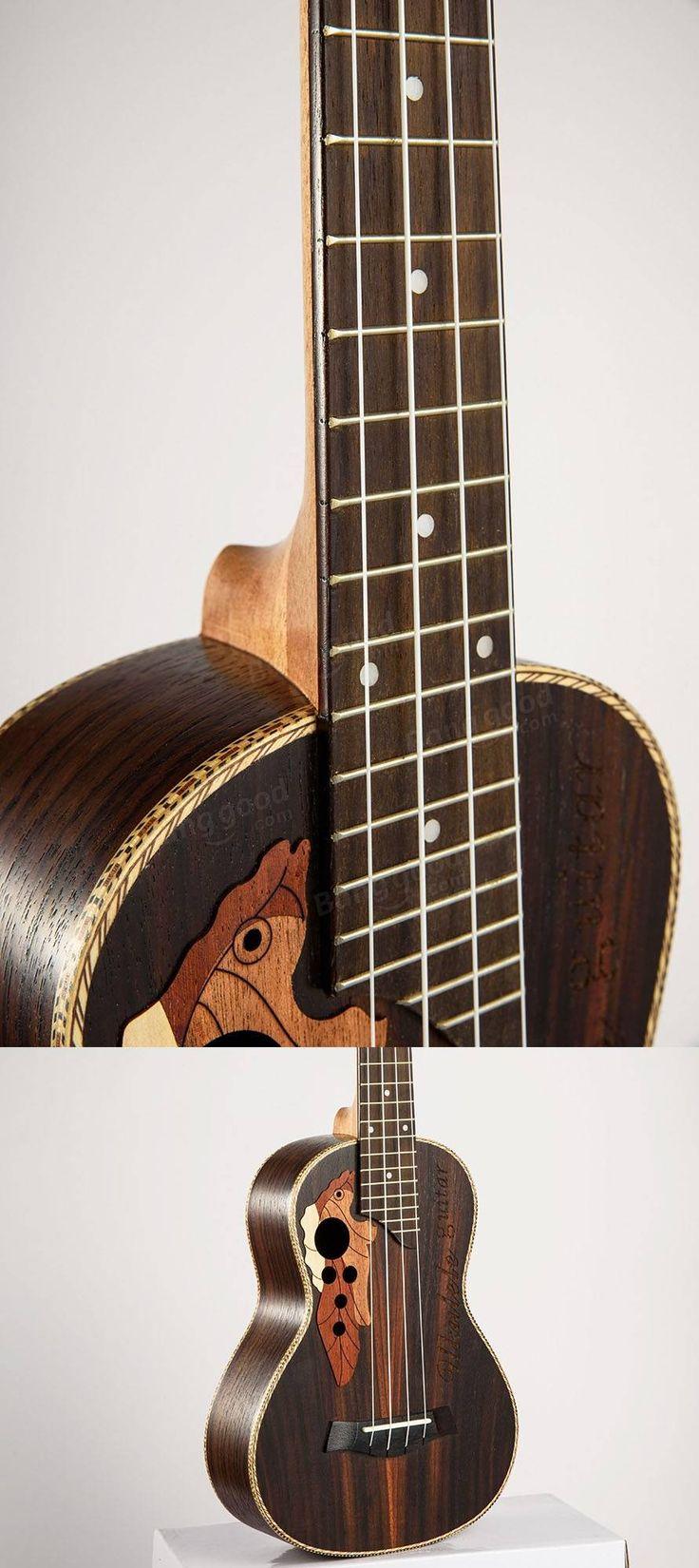 Chensheng 23 Inch Four Strings Rosewood Ukulele With Grape Shape Holes