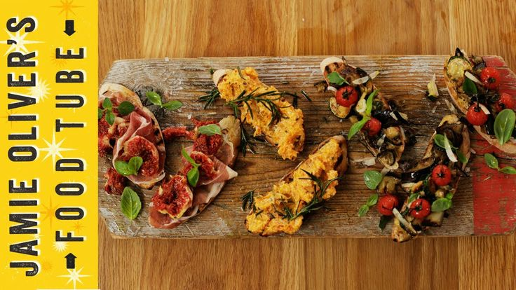 To celebrate Christmas, Gennaro Contaldo creates his Festive Bruschette recipe -- with three delicious toppings. Toasted ciabatta topped with squash and ricotta, fig and prosciutto and roasted vegetables. A fantastic sharing platter for the party season!