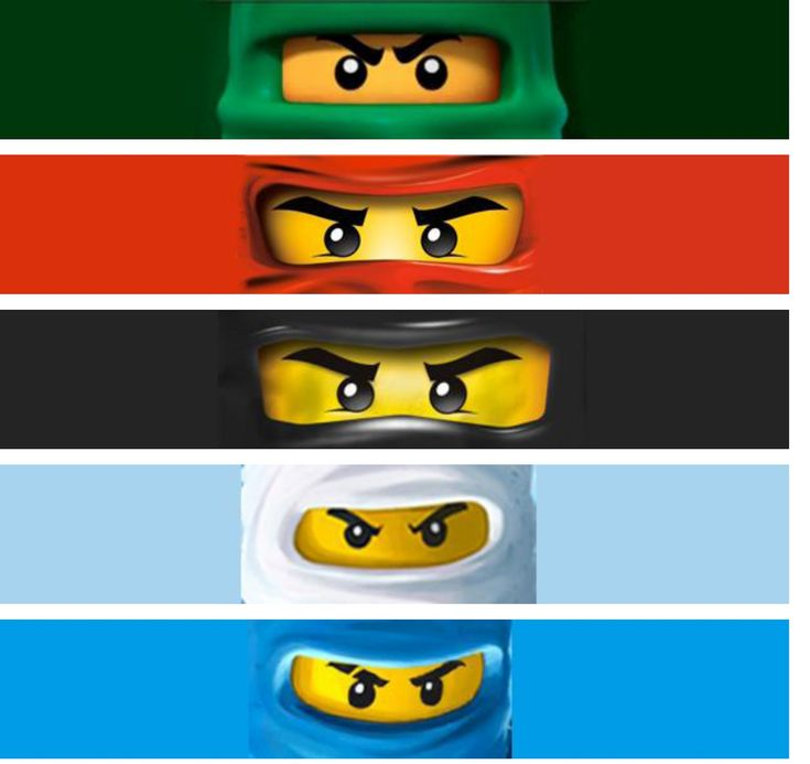 Our Homemade Happiness: Ninjago Birthday Party Ideas with Printables  cupcake and water bottle toppers, fun ninja name game *reference for what the face looks like