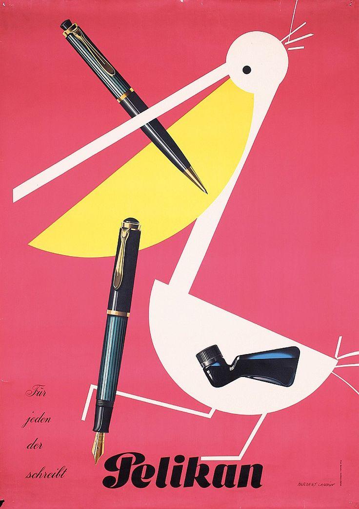 Herbert Leupin, Pelikan Poster.