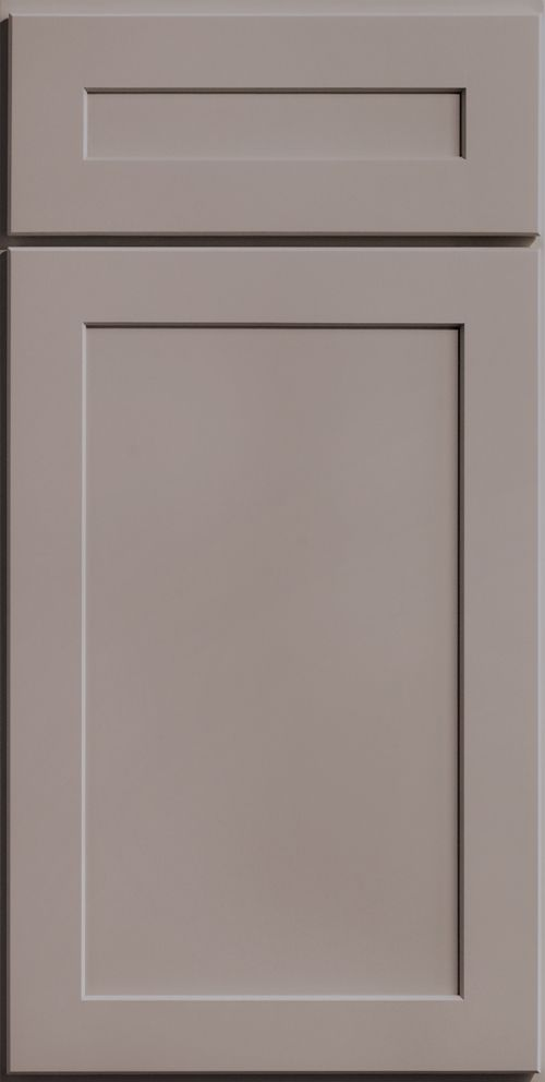merillat classic shaker style portrait cabinet door with five piece drawer front in shale - Merillat Classic Kitchen Cabinets