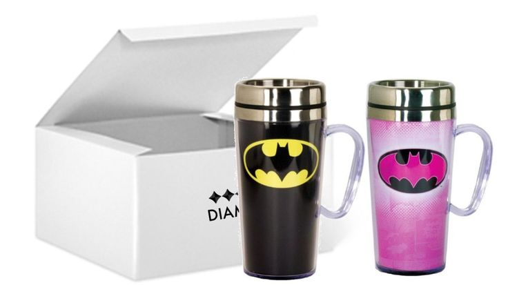 Batman Mug Set – Travel Mug The nice thing about sets is that you can get two for the price of one.