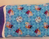 Children's Cotton Pillowcase,  Disney Frozen Sisters, Olaf, Bedroom Decor, Pillow Slip, Bedding Great Gift, Fast Shipping