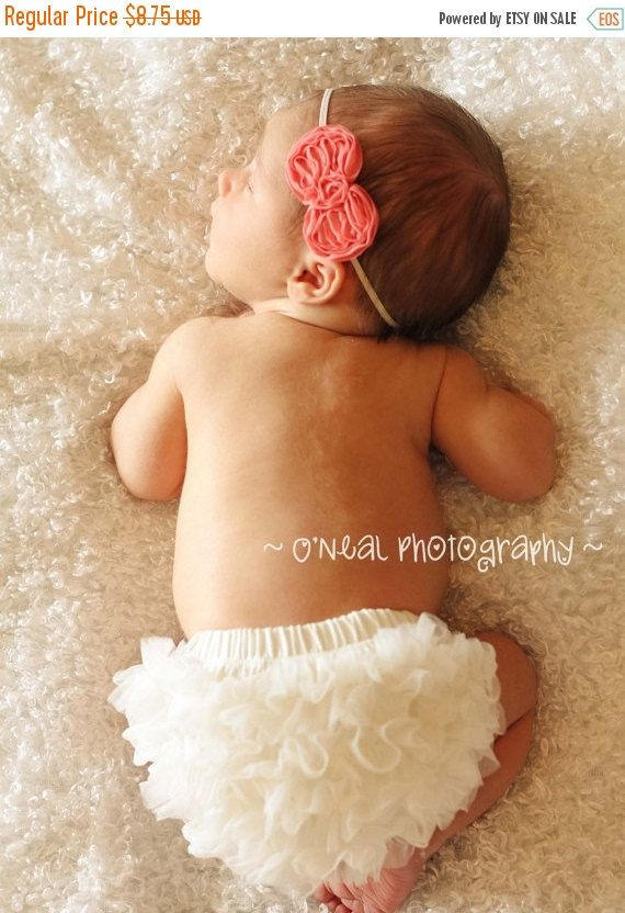BABY BLOOMER chiffon bloomer Ruffle Diaper Cover by my2lilpixies