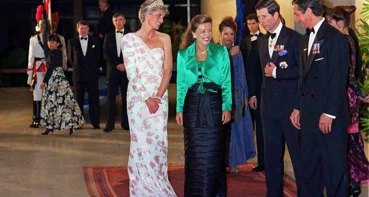 Jantar. Diana e Charles com o casal Rosane e Fernando Collor, em Brasília