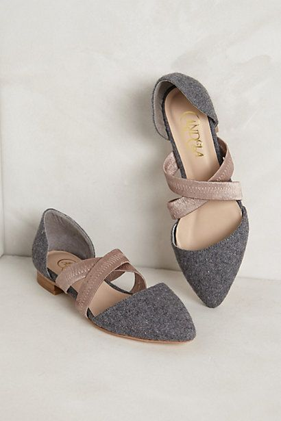 Bravura Flats in Grey at Anthropologie