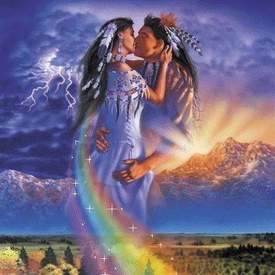 apache wedding kiss