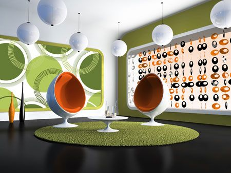 Groovy blinds - particularly like the green one