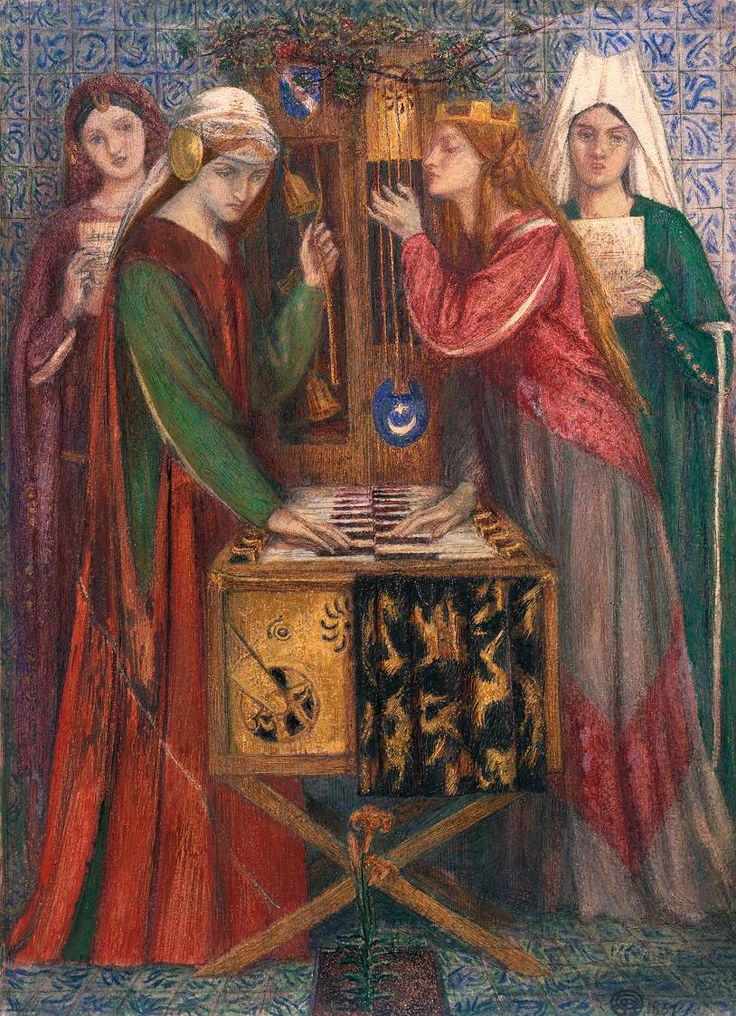 """The Blue Closet"", 1857 / Dante Gabriel Rossetti (1828-1882) / Tate, London, UK"