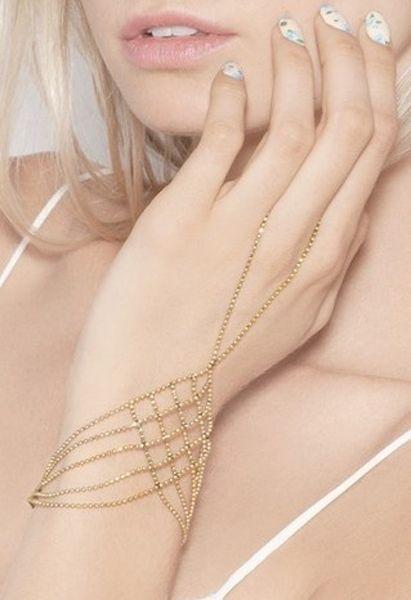 Gold chain bracelet / ring