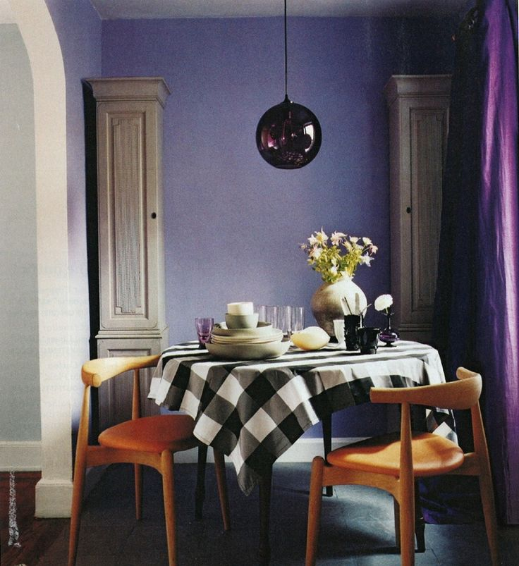 Dark Accent Wall Purple Dining RoomsPurple