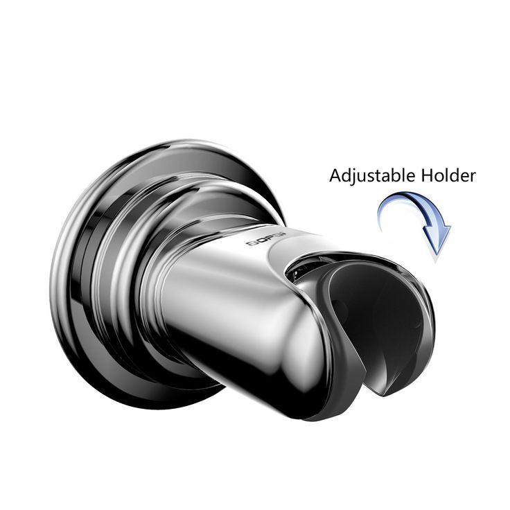 Bopai Vacuum Suction Cup with Swivel Adjustable Shower Head Holder ;Removable Handheld Showerhead & Bidet Sprayer Adhesive Wall Mount Bracket,Chrome
