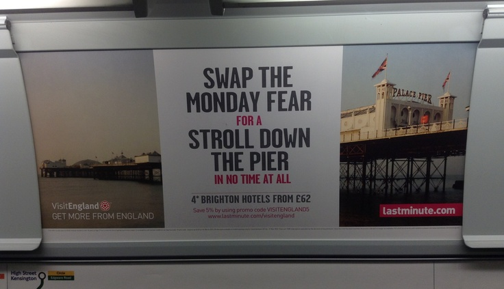 Visit England and LastMinute.com don't like Mondays!