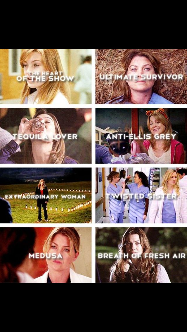 The many sides of Meredith Grey...