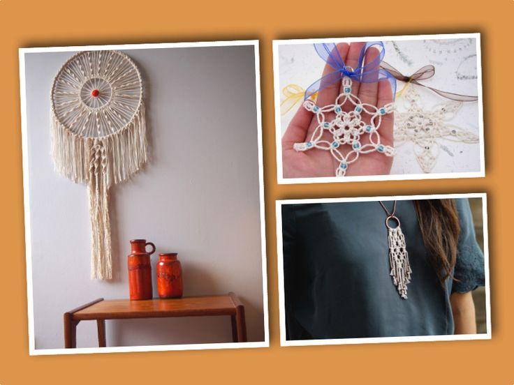 Från hängkrukor och gardiner till halsband och änglar – för dig som är kreativ och fingerfärdig finns det många pyssel med makramé. Klicka på bilderna och länkarna för att komma vidare till såväl t...
