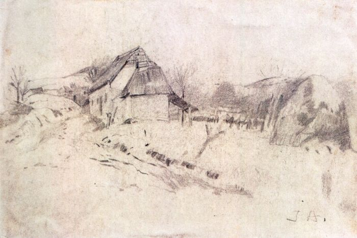 Desen - Andreescu, Ion; Peisaj de ţară - Muzeul Naţional de Artă ...