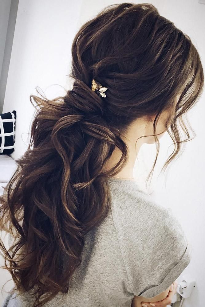 Essential Guide To Wedding Hairstyles For Long Hair Wedding Forward Long Hair Ponytail Long Hair Styles Wedding Hairstyles For Long Hair
