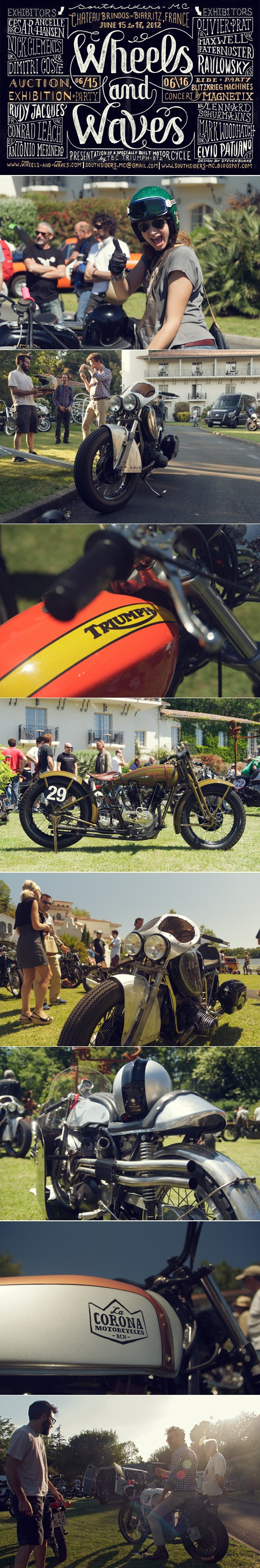 Photo highlights from the Wheels & Waves motorcycle show in Biarritz, France. Click through for more images: http://on.fb.me/wheels-waves