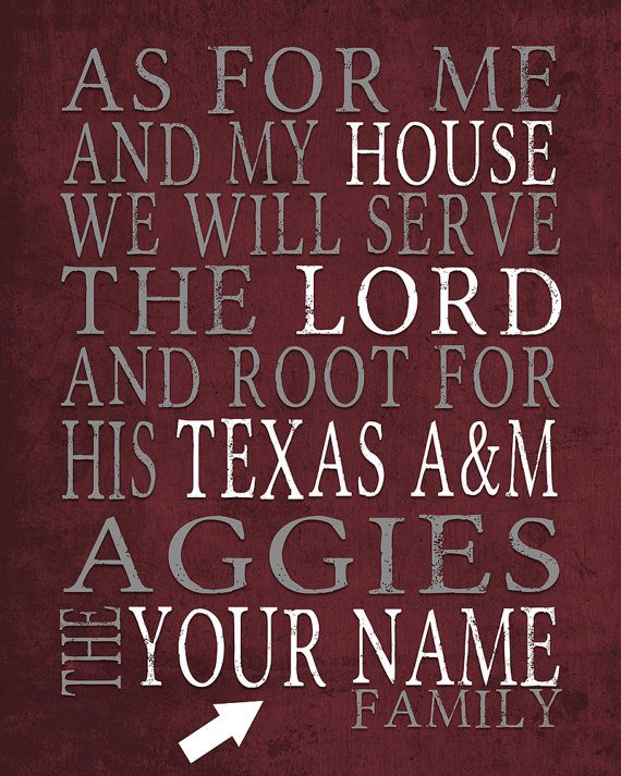 PERSONALIZED PRINTABLE your name Texas A&M by SportsNationPrints