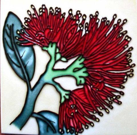 Ceramic Tile : Pohutukawa – www.themotelshop.co.nz