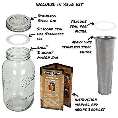 Inexpensive cold coffee brewer, glass luv