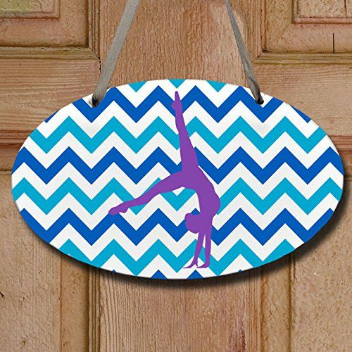 ChalkTalk SPORTS - Oval Room Sign, Chevron Gymnast | If you give a girl a leotard...