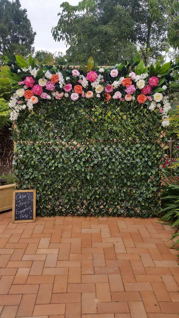 Flower wall Sydney - Peonies  Scribbly Gum Lane