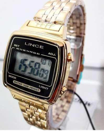 9396916ba Relógio Lince Feminino Quadrado Digital Vintage Sdph040l - R$ 199,80 em Mercado  Livre