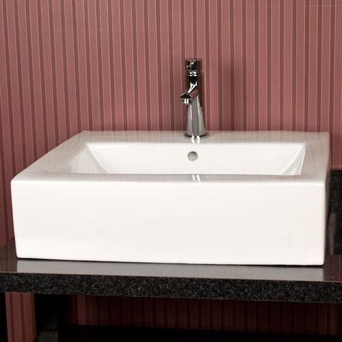 White Square Vessel Sink : Diego Square Vessel Sink - White Basement Ideas Pinterest