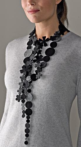 """Black and Gray Necklace"""" #Glimpse_by_TheFind"""