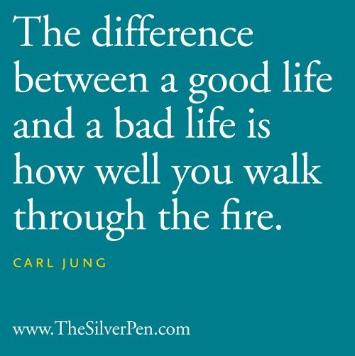 The Difference - Carl Jung - Inspirational Picture Quotes About Life | The Silver Pen