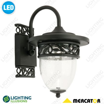 Small Heritage Exterior 6W LED Black Cast Aluminium Wall Light - Shop - Lighting Illusions Online