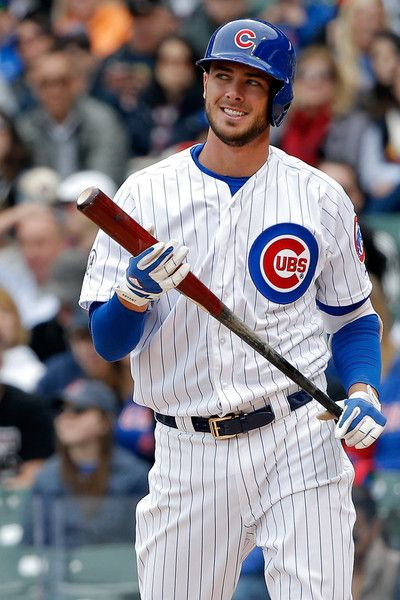 kris bryant | Kris Bryant Kris Bryant #17 of the Chicago Cubs reacts after striking ...