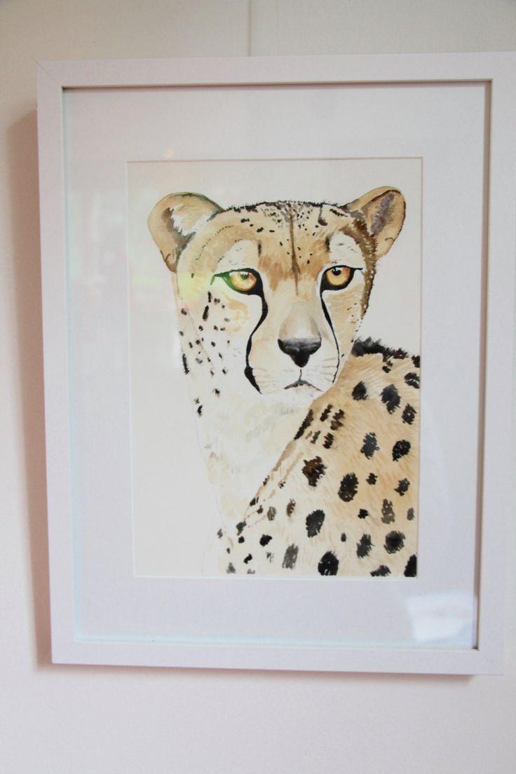 A Portrait of a Cheetah - Fine Art Giclée Print of a cheetah by LittleRowanRedhead on Etsy
