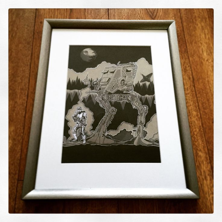 Guarding endor ( fine liner & copic marker on tonal ) By Huw Williams