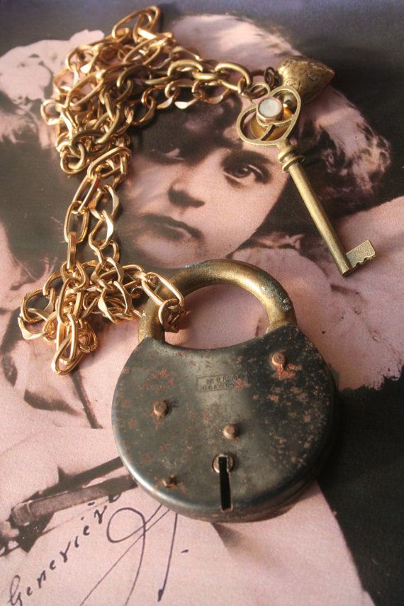 Padlock necklace Padlock jewelry Steampunk by IRISHTREASURE