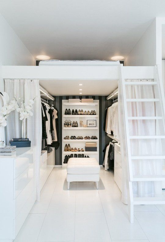 Small Space Living   Raised Platform Bed   Dressing Room
