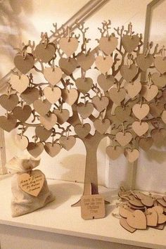 Heart tree guest book – Real life wedding