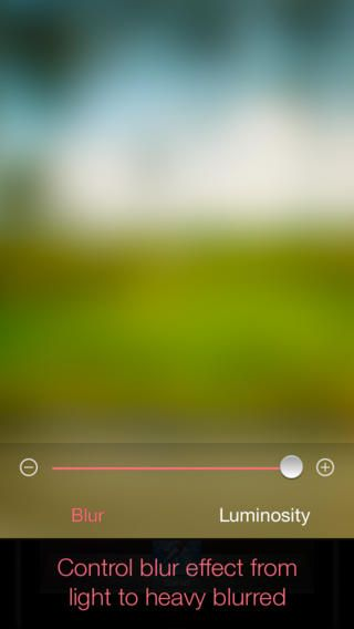 Photo Blur app. Blur your pictures into cool abstract wallpapers and artistic images.
