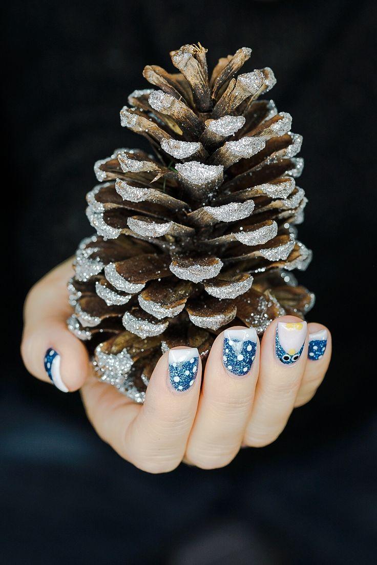 #Nails #Naildesign #Tannenzapfen #Pinguin #Nagelstudio Prestige Bonn