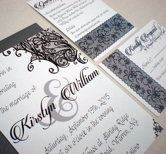 Printable wedding invitation suite lace gothic wedding for Free printable gothic wedding invitations