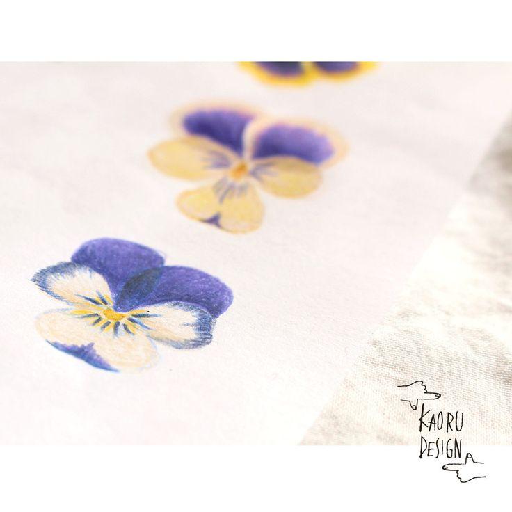 Purple violas ・・ online store from here - https://www.etsy.com/shop/KaoruDesign /●●● #kaorudesignstudio #pensilart #Kaoru_D_store #Babynameposter #Keepsake #custombabygift #Personailsedartprint #Nurserydecorart #Babyroomdecor #Kidsroomwallart #Keepsake #命名書 ●●●